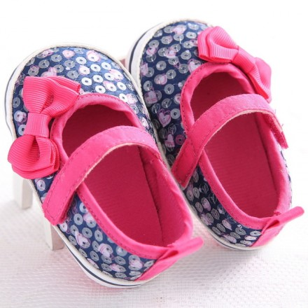 Fashion Sweet baby girl Sequin Prewalker Shoes- size 0-9mths