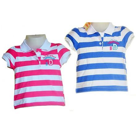 Baby Girls Striped Polo tees- 6mths-12mths