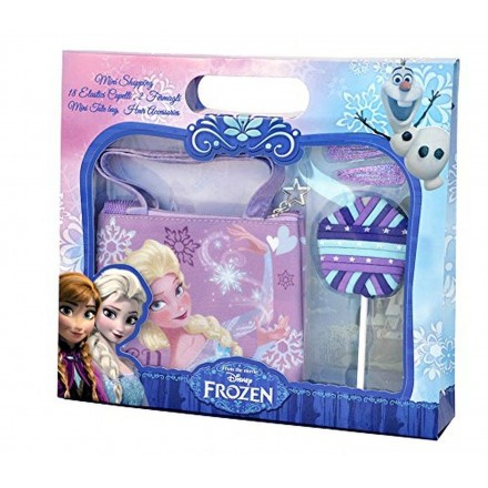 Disney Frozen Mini Tote Bag with Hair Accessories Gift Set