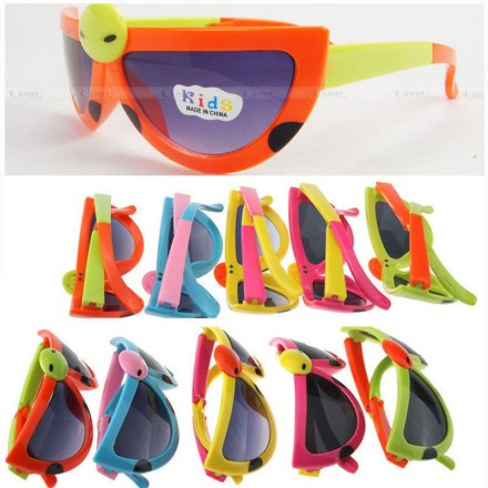 Kids Folding Ladybug Sunglasses- assorted