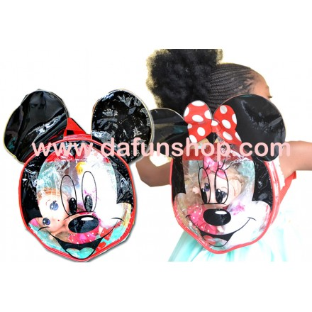 Disney Mickey/Minnie Clear Transparent Toddler backpack