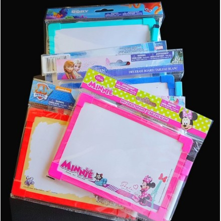 Dry Erase Board with Marker- Licensed assorted characters