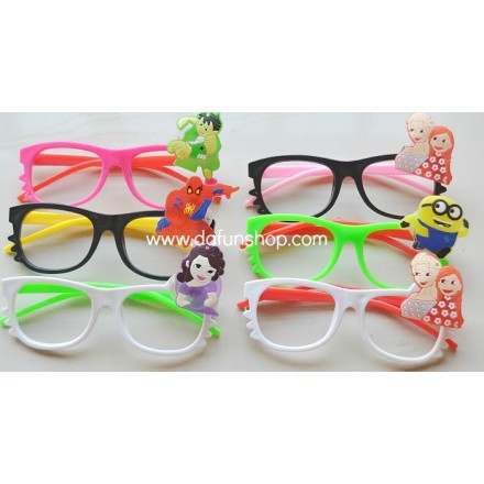 Cartoon Open Lens 3d Eyeglasses with Light- assorted
