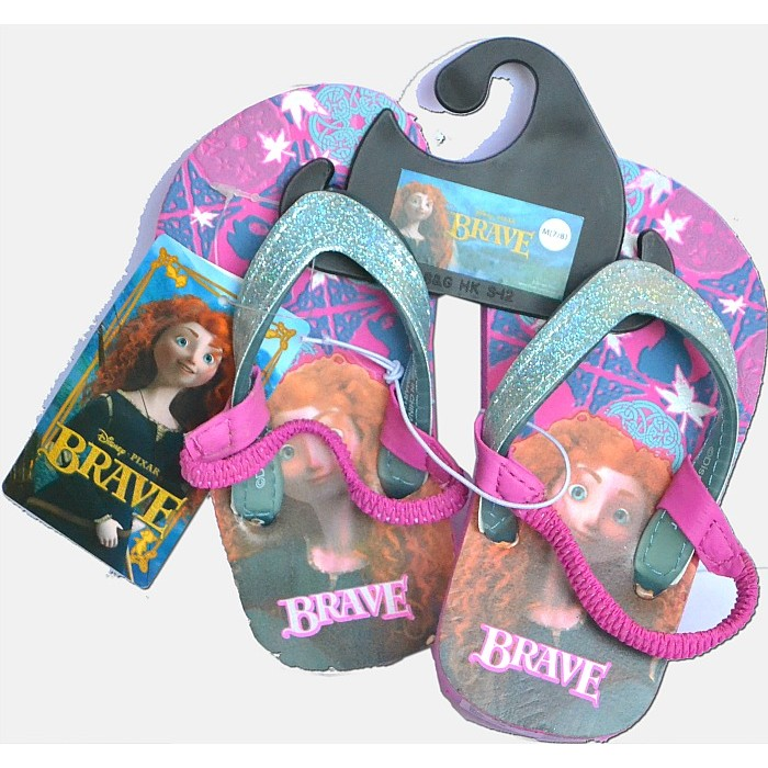 73aa22a06 Disney Pixar Girls Brave Flip Flop Sandals- US 5