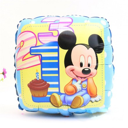 18 inch Square Mickey Mouse Foil Helium Balloon