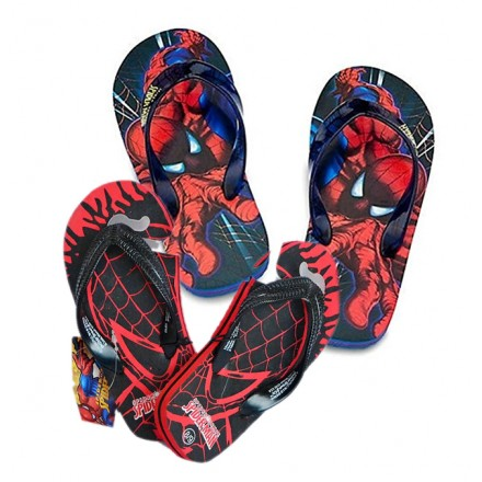 Boys Spiderman Flip Flops- US  8, 9, 10, 11
