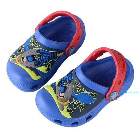Batman Boys 3d Lighted Clogs/Crocs- Size 25/26