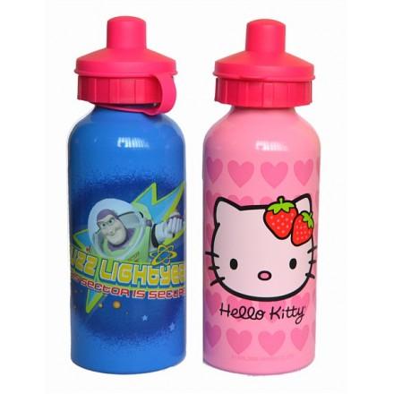 Pull Top Kids Aluminium water bottles- Hello Kitty, Toy story