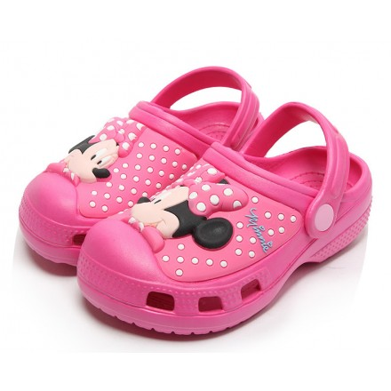 Disney Minnie Mouse 3d Eva Crocs/Clogs with light- size 24, 25