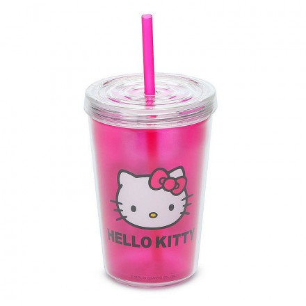 Zak: Hello Kitty Double Walled Travel Tumbler 13oz