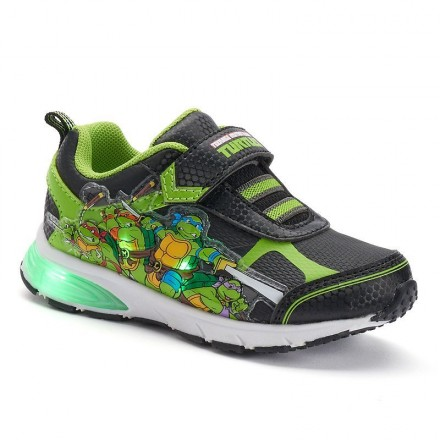 Teenage Mutant Ninja Turtles Toddler Boys' Light-Up Sneakers- US size 7, 9
