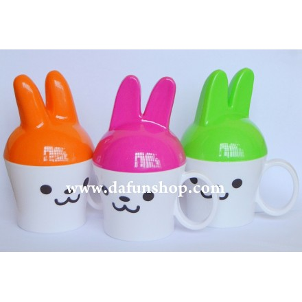 Bunny Baby Cup with Cover and handle- assorted colours