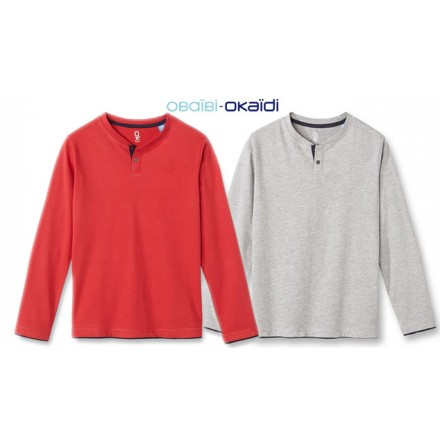 Okaidi Boys Solid Long Sleeve Tees- 18mths-6yrs