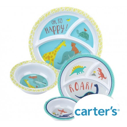 Carters Kids Melamine Section Plate and Bowl Set