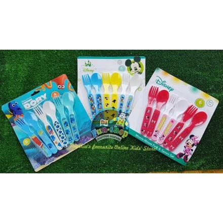 Disney 6pack Toddler spoons and forks set.