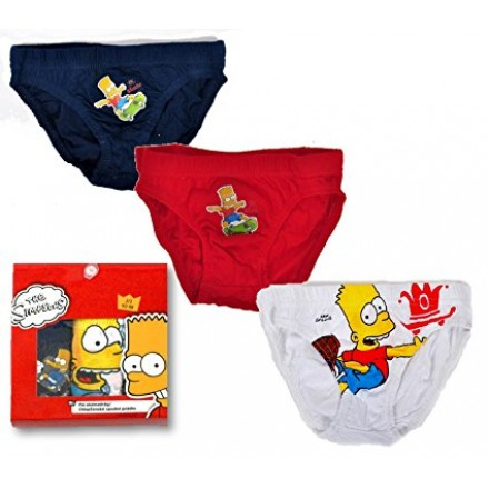 Official The Simpsons Boys Mixed Pack of 3 Cotton Briefs Underwear- 4-5yrs, 6-8yrs