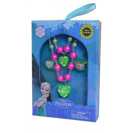 Disney Frozen Girl's Bracelet, Necklace & 2 Rings