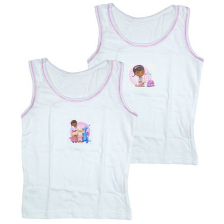 Pack of 2 Disney Doc Mcstuffin Girls Vests- 18mth-3yrs