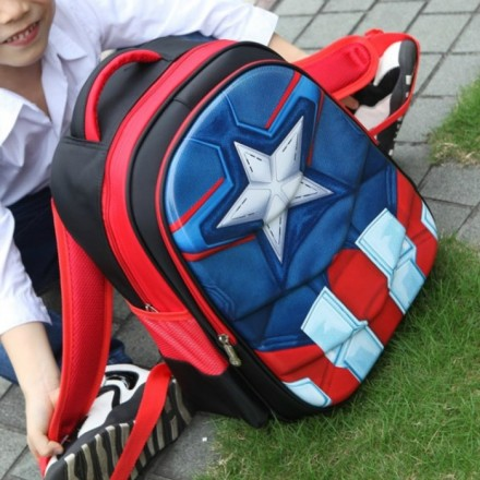 New Design- Superheroes Boys large 17inches School Backpack- Spiderman, Avengers, Batman, Ironman