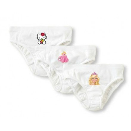 Cartoon Girls White Panties- 2-4yrs