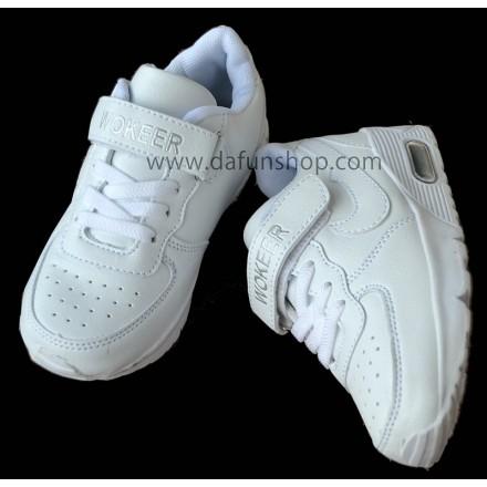 Wokeer Kids White Sports Shoes- Size EUR 27, 28, 29, 30, 31, 32, 33, 40