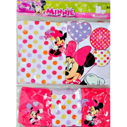 Disney Minnie 2 Cami vests & 3 Panties set (2-5yrs)