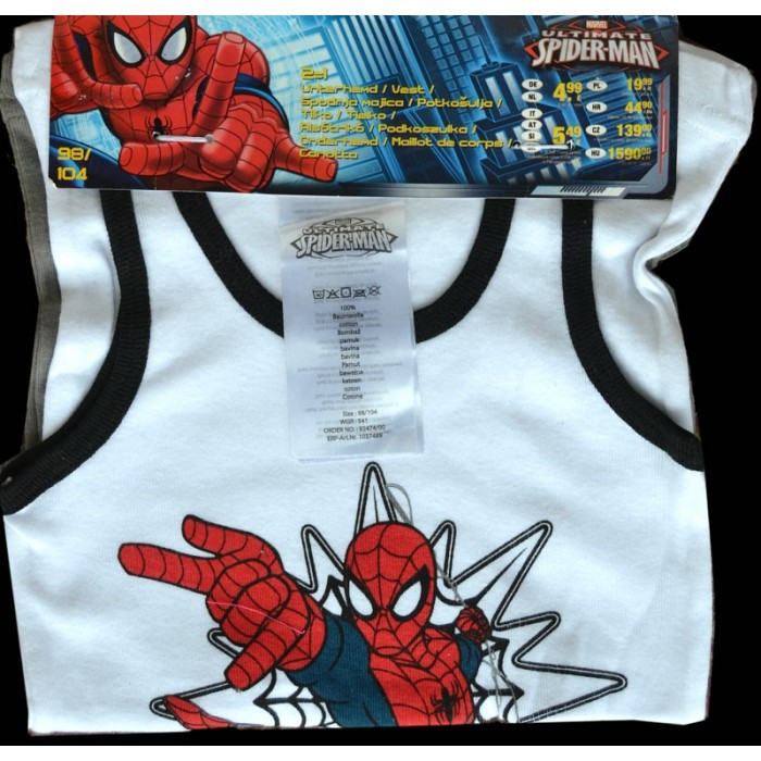 02c703767979 Boys Spiderman 2 pack Cotton Underwear vests (2-6yrs)