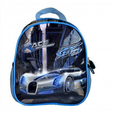 Boys Racer Blue Insulated Lunch bag with backstraps