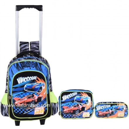 Cars 'Whoosh' 3 piece Trolley School Set
