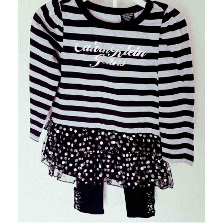 Calvin Klein Jeans Girls 2pc top & leggings set (2T-3T)