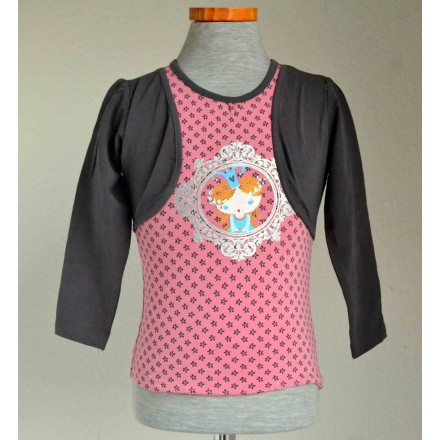Baby Girls Top with faux bolero (6mths-18mths)