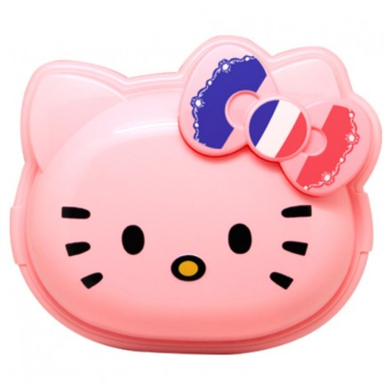 TECHNOPLAST KITTY AROUND THE WORLD 3 IN 1 LUNCH SET- WHITE/PINK