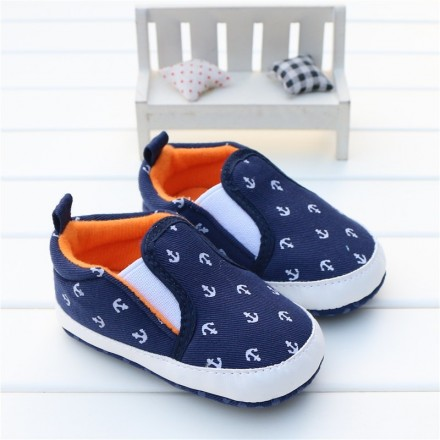 Baby Boy Shoes Casual Slip-On Soft Sole Crib Shoes - 6-9mths