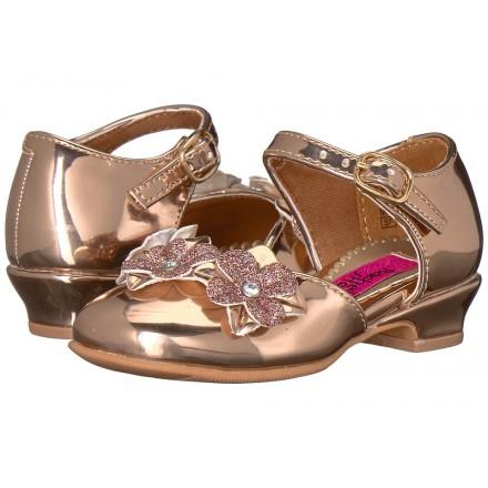 Rachel Kids Lil Lilah Gold Embellished Shoes- Size US 7, 9, 13