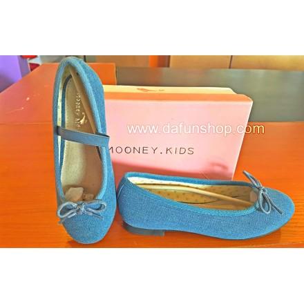 Mooney Kids Denim Flats- Sizes 30, 32, 34