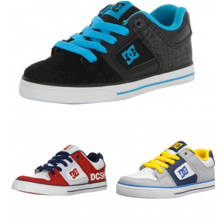 DC KIDS BOYS SNEAKERS- ASSORTED DESIGNS- Size EUR 33 left