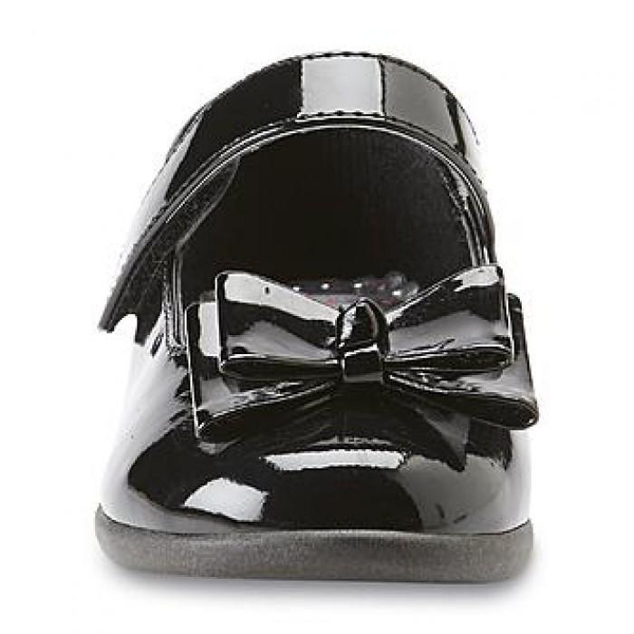 WonderKids Toddler Girl's Catalina Black Mary Jane Dress Shoe- Size US 6, 8, 10