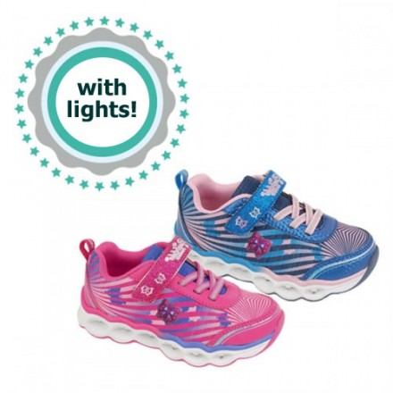 Bubble Bobble Girls Lighted Sneakers- 2 colours- EUR 25-35