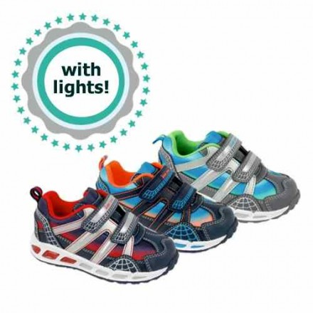 Bubble Bobble Boys Lighted Sneakers- 2 colours- EUR 25-35