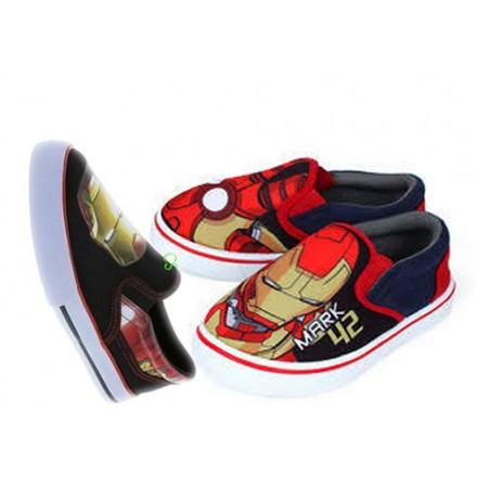 Boys Marvel Iron-man Slip On Canvas - Size 30