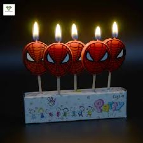 Spiderman 5Pcs Cake Candle Toppers