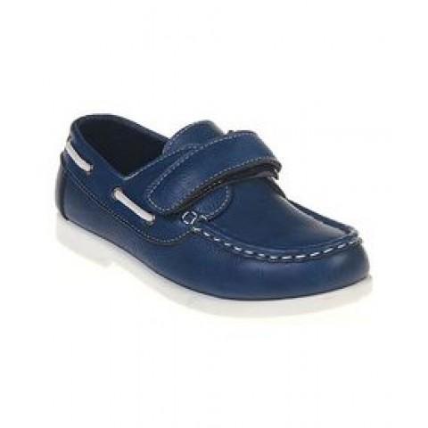 Jelly Beans Boys Leatherette Velcro Strap Moccasin - Blue- US size 13, 1