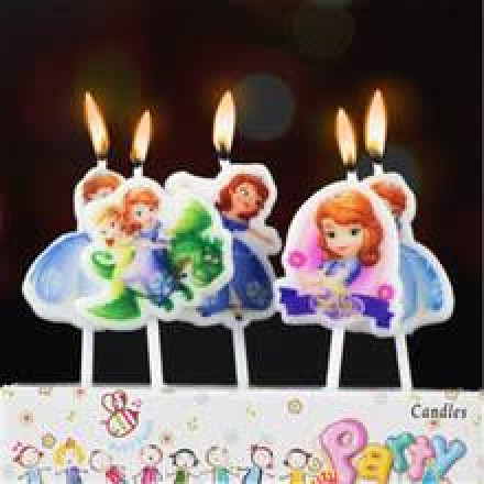 Princess Sofia 5Pcs Cake Candle Toppers