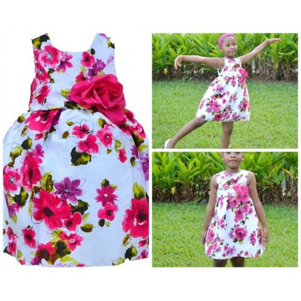 La Princess Floral Occassion Dress (2-4yrs)