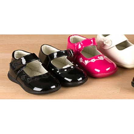 Mabini Baby Girls Patent Hard Soled Shoes - Size 3-6