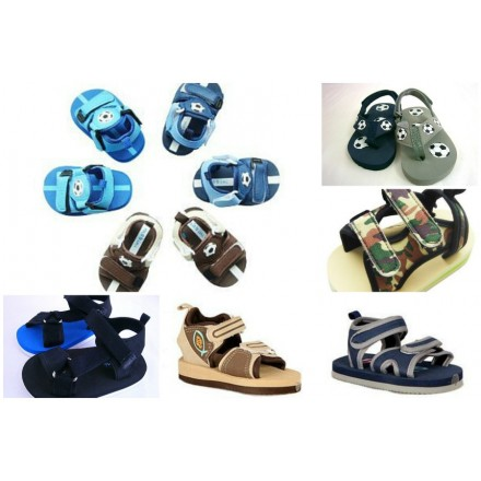 Mabini Baby Boys Beach Sandals- (3mths- 12mths)-assorted designs
