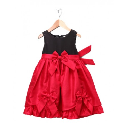 Nannette Red Bow Tie-Back Dress (2pcs set)- 12mths