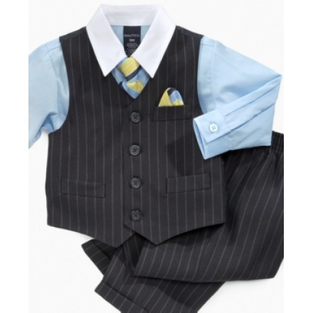 Nautica 4-piece,tie,shirt,pant and waist coat- 5, 6, 7yrs