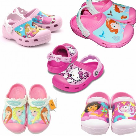Girls Original Crocs - assorted designs (Size 6-3)