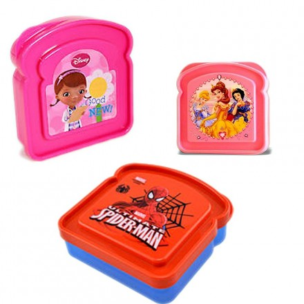 Bread-Shaped Sandwich Plate- Princess, Doc, Spiderman